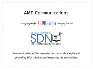 AMD Recognized as One of This Year's 20 Most Promising SDN Providers